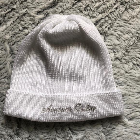 fad7d3b9903 New Armani baby white infant hat girl boy unisex